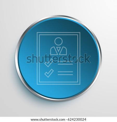 Blue Sign Business Page Symbol icon Business Concept