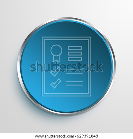 Blue Sign Data SEO Report Symbol icon Business Concept