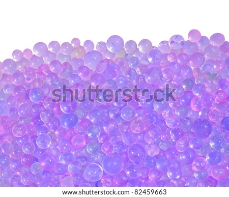 blue silica gel isolated on white