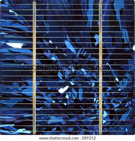 Blue silicate solar cell...