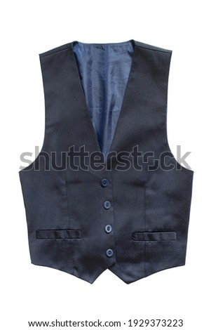 Blue silk elegant waistcoat isolated over white Stock photo ©