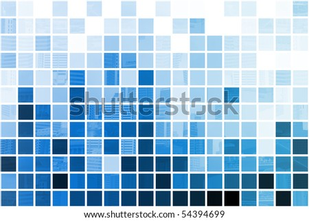 Blue Simplistic and Minimalist Abstract Block Background