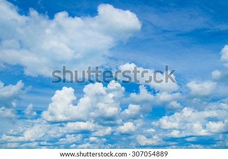 Blue sky. - Shutterstock ID 307054889
