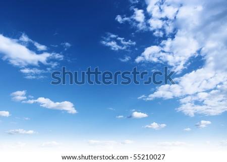 Blue sky,