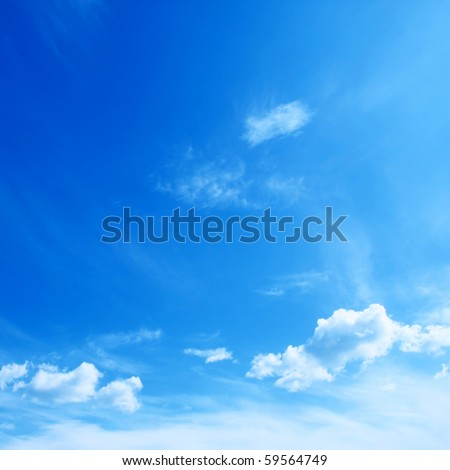 Blue sky. - stock photo