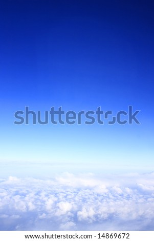 Blue sky above the clouds.