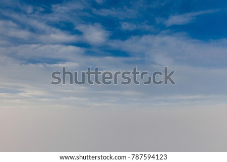 blue sky above the clouds  #787594123