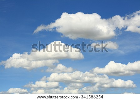 blue sky abstract and fluffy white cloud during the daytime - Shutterstock ID 341586254