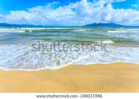 Blue sky and beach #248015986
