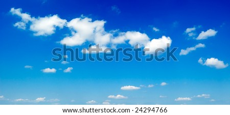 blue sky and beautiful white clouds