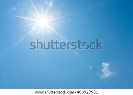 Blue sky and bright sun - Shutterstock ID 403929931