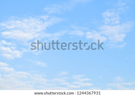 Blue sky and cloud in the morning  #1244367931