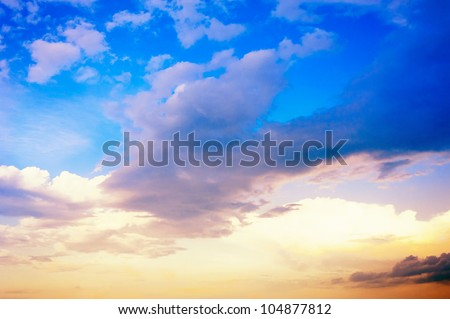 blue sky and clouds - Shutterstock ID 104877812