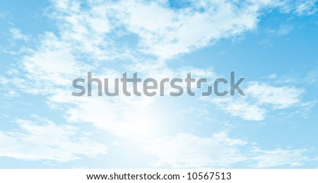 Blue sky and clouds #10567513