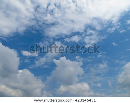 blue sky and clouds #420146431