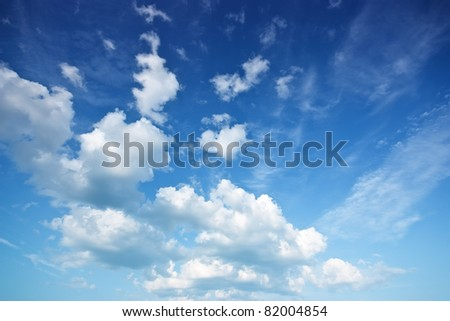 Stock Photo Blue sky and clouds