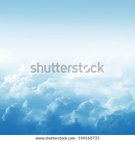 blue sky and clouds abstract...