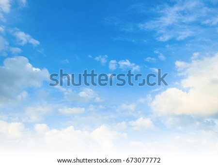 Blue sky and clouds background. - Shutterstock ID 673077772