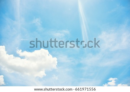 blue sky and clouds. background....