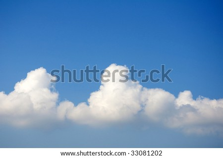 Blue sky and clouds copy space