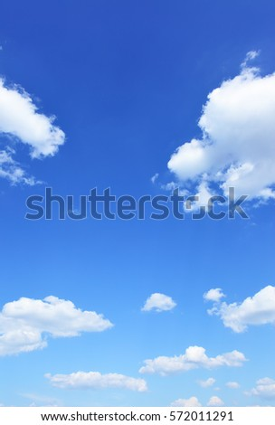Blue sky and clouds, natural photo background