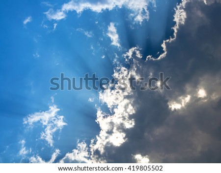 blue sky and gray clouds #419805502