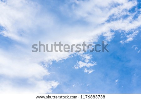 Stock Photo Blue sky and large white cloud.