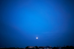 Blue sky and moon . High resolution image gallery ,Cloudy sky with tops. Clear sky in the summer season.