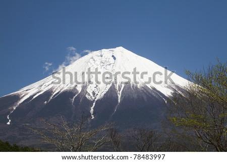 Blue sky and Mount Fuji