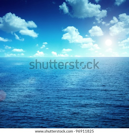 Blue sky and sea #96911825