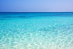 Blue sky and sea background. Similan Islands, Phuket, Thailand