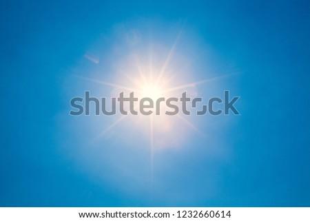 blue sky and sun #1232660614