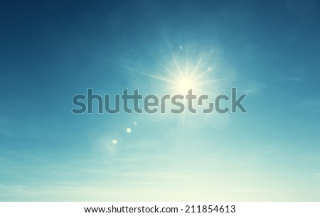 blue sky and sun - Shutterstock ID 211854613