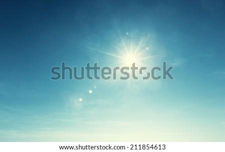 blue sky and sun #211854613