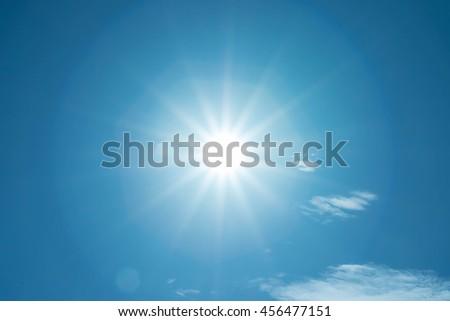 blue sky and sun - Shutterstock ID 456477151