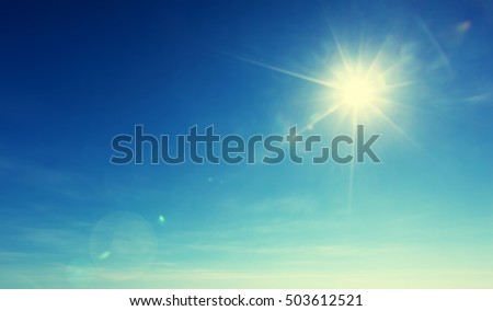 blue sky and sun - Shutterstock ID 503612521