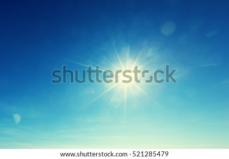 blue sky and sun - Shutterstock ID 521285479