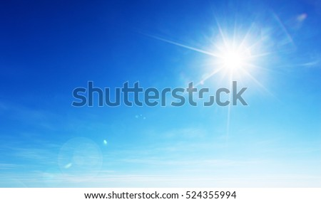 Photo of  blue sky and sun