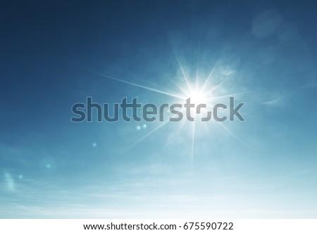blue sky and sun - Shutterstock ID 675590722