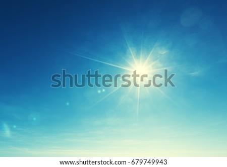 blue sky and sun - Shutterstock ID 679749943