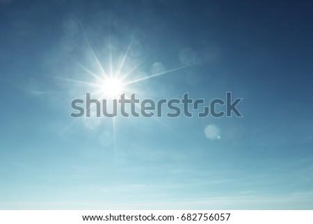 blue sky and sun - Shutterstock ID 682756057