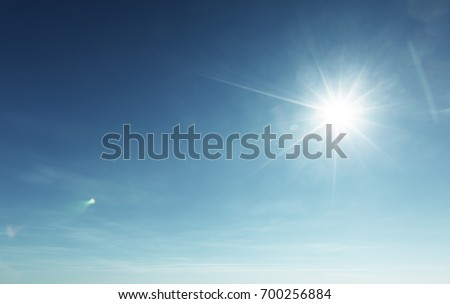 blue sky and sun - Shutterstock ID 700256884