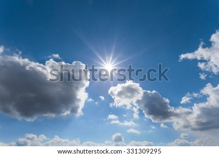 blue sky and sun background - Shutterstock ID 331309295
