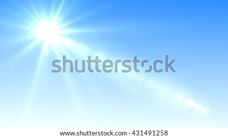 Blue Sky and Sunshine Background  - Shutterstock ID 431491258