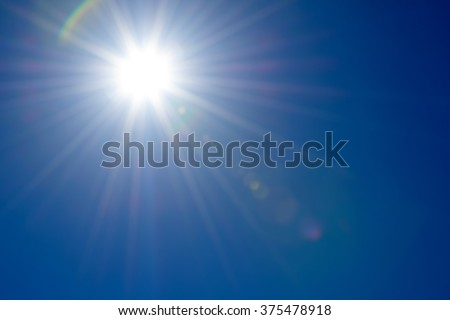 Blue sky and sunshine in Summer