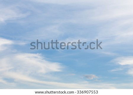 blue sky and white cloud, fluffy cloudy sky background