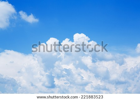 Blue sky and white cloud in sunny day in Thailand - Shutterstock ID 221883523