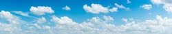 blue sky and White cloud nature panorama