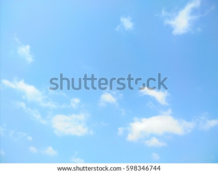 Blue sky and white clouds - Shutterstock ID 598346744