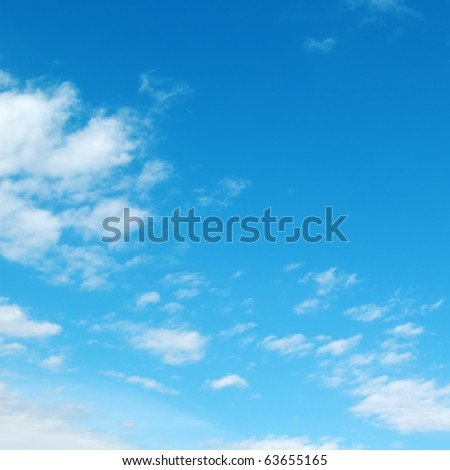 blue sky and white clouds - Shutterstock ID 63655165